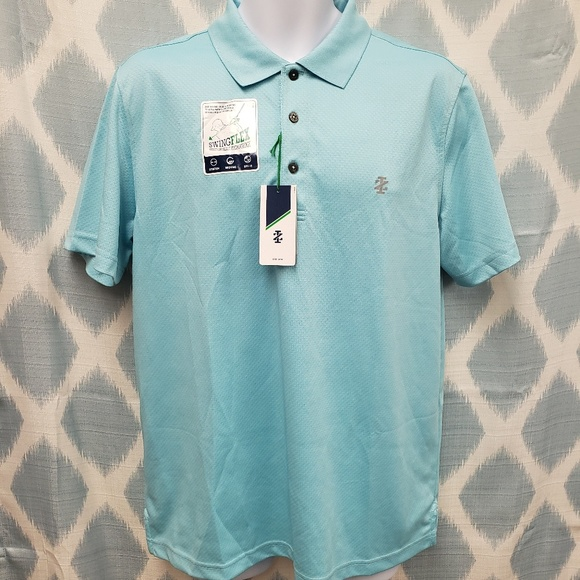 NEW NWT IZOD POLO STYLE MENS SHIRT SIZE LARGE L G SHORT SLEEVE GREEN AND WHITE